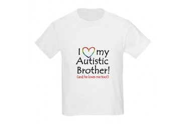 I love my Autistic Brother! - Kids T-Shirt