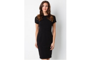 Urban Twist Little Black Midi Dress