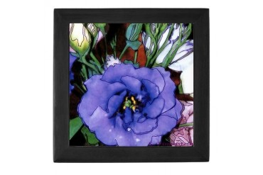 Purple Lysanthium 2 - Art Art Keepsake Box by CafePress