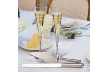 Cathy's Concepts Toasting Flutes and Serving Set - Style S1797