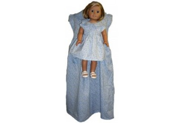Matching Blue Girl And Doll Dresses Size 4