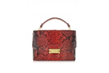 Red Python Leather Mini Bag
