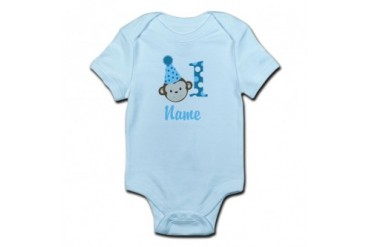 CafePress Monkey 1st Birthday Infant Add A Name Body Suit