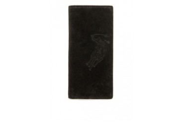 Polo Debossed Long Leather Wallet