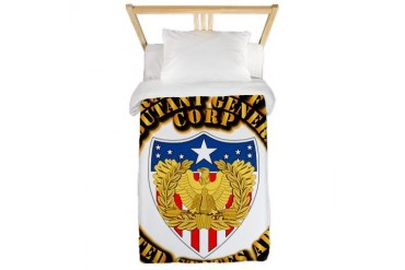 Army - WO - AG Corps Army Twin Duvet by CafePress