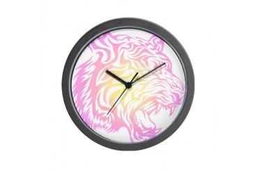 Colorful Tribal Tiger Cool Wall Clock by CafePress