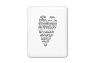 Black and white iPad Case by CafePress