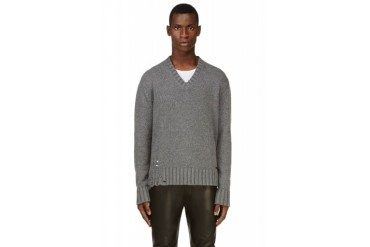 Dsquared2 Grey Pulled Sweater