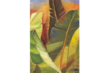 Through the Leaves Square Panel II Poster Print by Patricia Pinto (12 x 18)