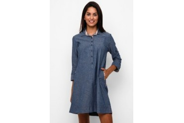 novel.mice Denim Dress In Casual Style
