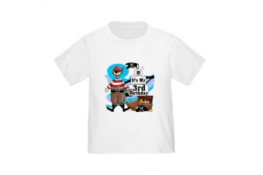 Pirate's Life 3rd Birthday Toddler T-Shirt