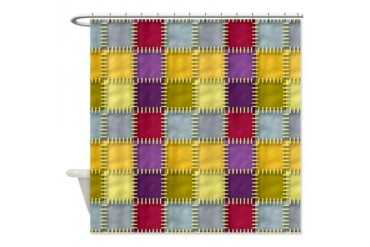 Pastel Patchwork Cool Shower Curtain by CafePress