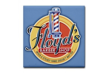 Floyd Barber Shop Humor Tile Coaster by CafePress