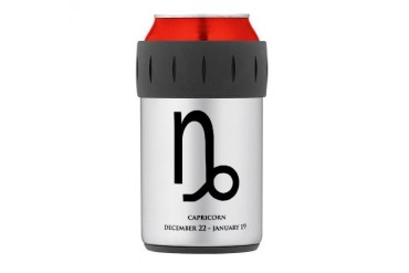 capricorn black Thermos Can Cooler Humor Thermosreg; Can Cooler by CafePress