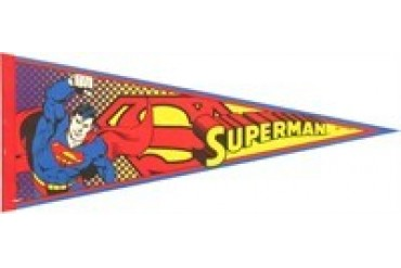 DC Comics Superman Shield and Logo Pennant