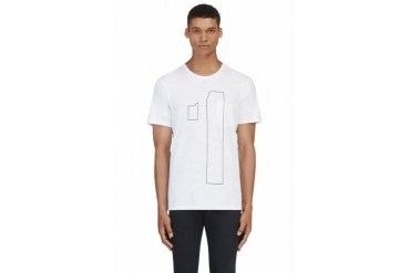 Rag And Bone White Number T shirt