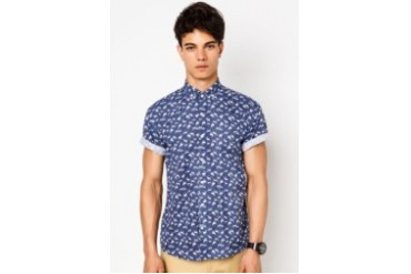 Pestle & Mortar Mens Stag Short Sleeve Shirt