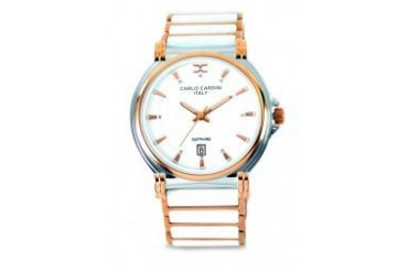 Carlo Cardini Carlo Cardini watch 4005GC-RG-1 White / Gold
