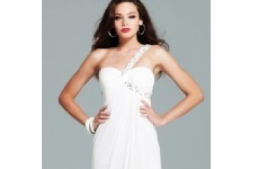 "Faviana ""In Stock"" Ivory Prom Dress - Style 6954"