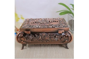 Vintage Flower Designed Alloy Ladies' Jewelry Box (011042404)