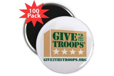Give2theTroopsreg; Magnet 2.25 100 pack 2.25 Magnet 100 pack by CafePress