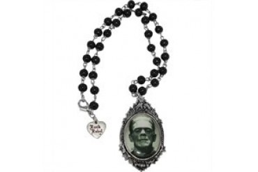 Frankenstein Monster Head Rosary Style Necklace