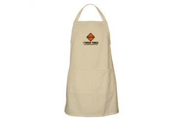 Warning I Throw Things, Apron