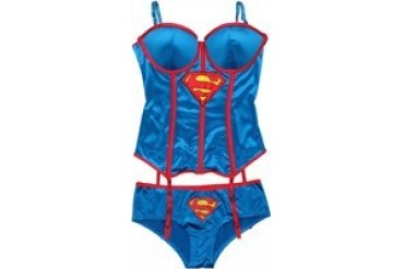 DC Comics Superman Supergirl Corset and Briefs Lingerie Set